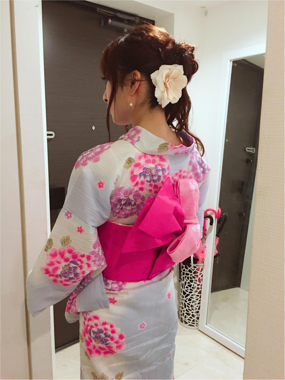 ♡今年の浴衣は【水色ベース×帯2枚使い】人と被らないアレンジ♡モアハピ◡̈のぞみ♡_16
