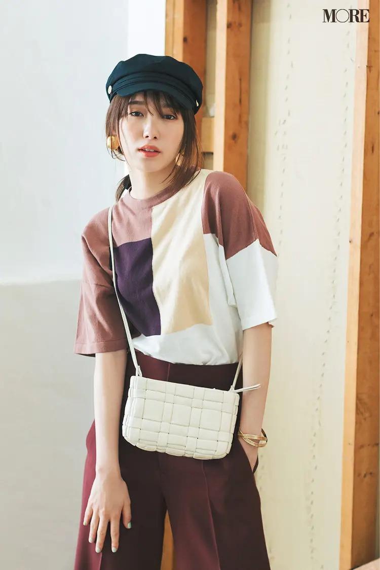 【帽子コーデ】キャスケット×デザインTシャツ