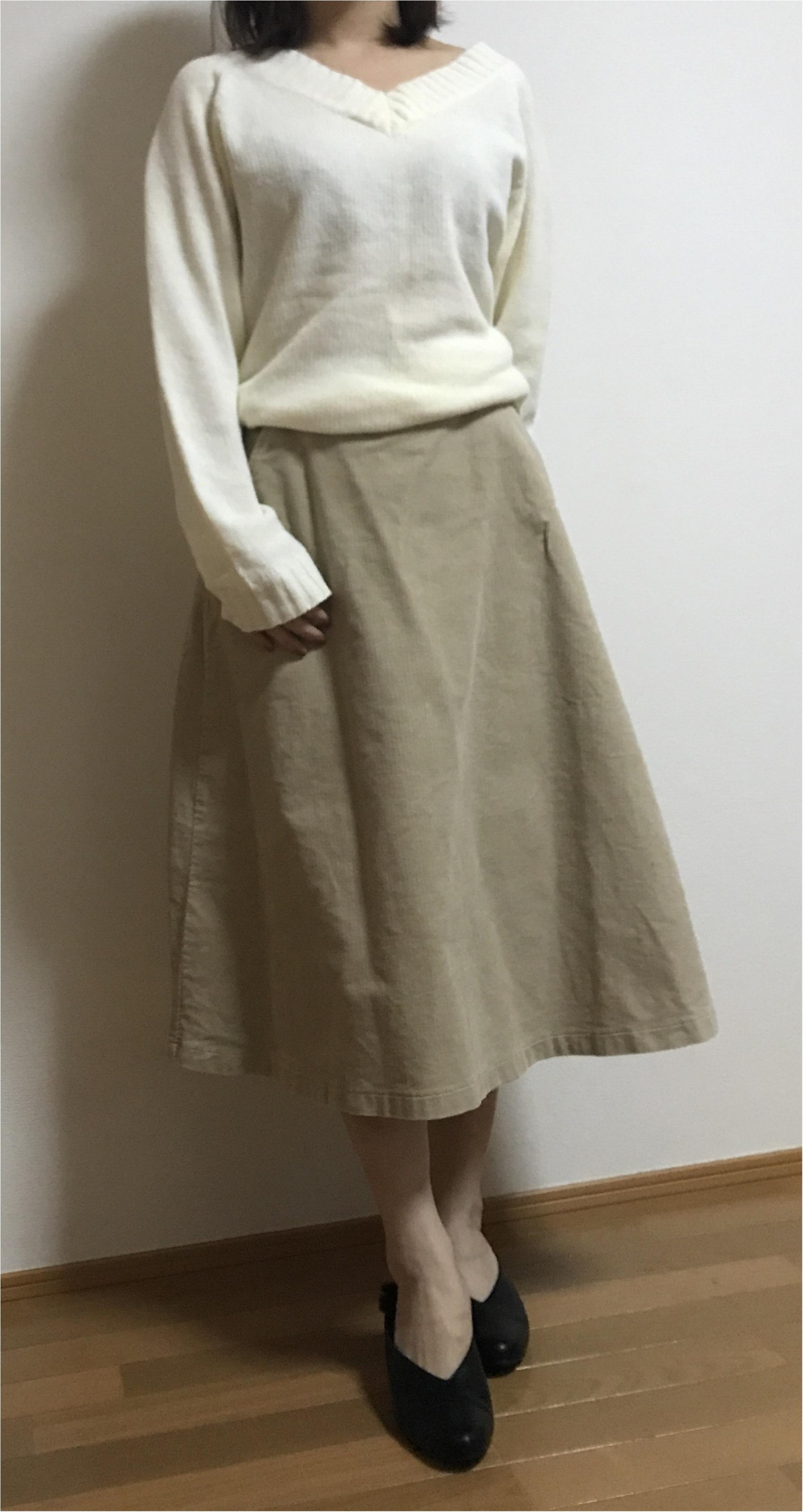 【ユニクロ】買ってよかった!まだまだ使える冬アイテム♡♡《コーデュロイスカート×ニット》の最強コーデを組んでみました❤︎_2