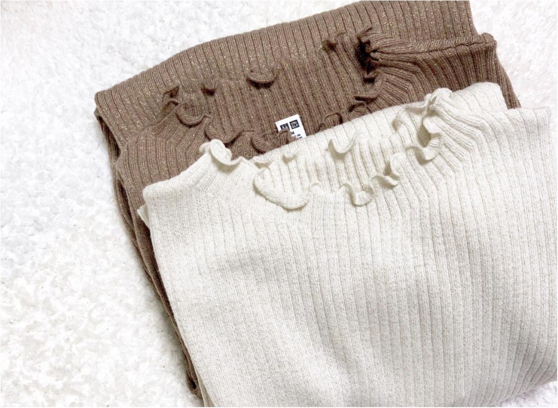 【UNIQLO - ユニクロ -】年末の買い足し服にぴったり❤️《シャイニーリブフリルネックセーター》が可愛すぎる!_3