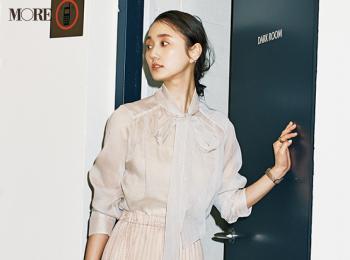 【今日のコーデ】<鈴木友菜>初対面の人と会う日は上品なプリーツスカートで好感度高く