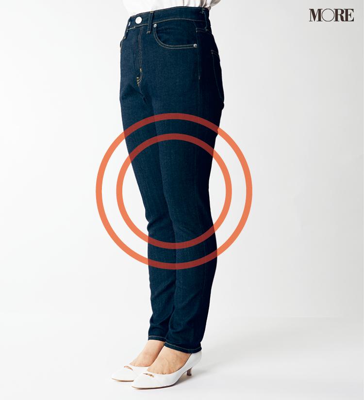 デニムパンツ&ワイドパンツ、どの靴と合わせるのが1番きれい? MOREがその相性を徹底検証!_2_5