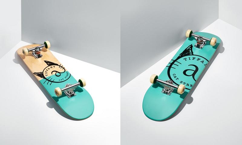 ティファニーのスケートボード