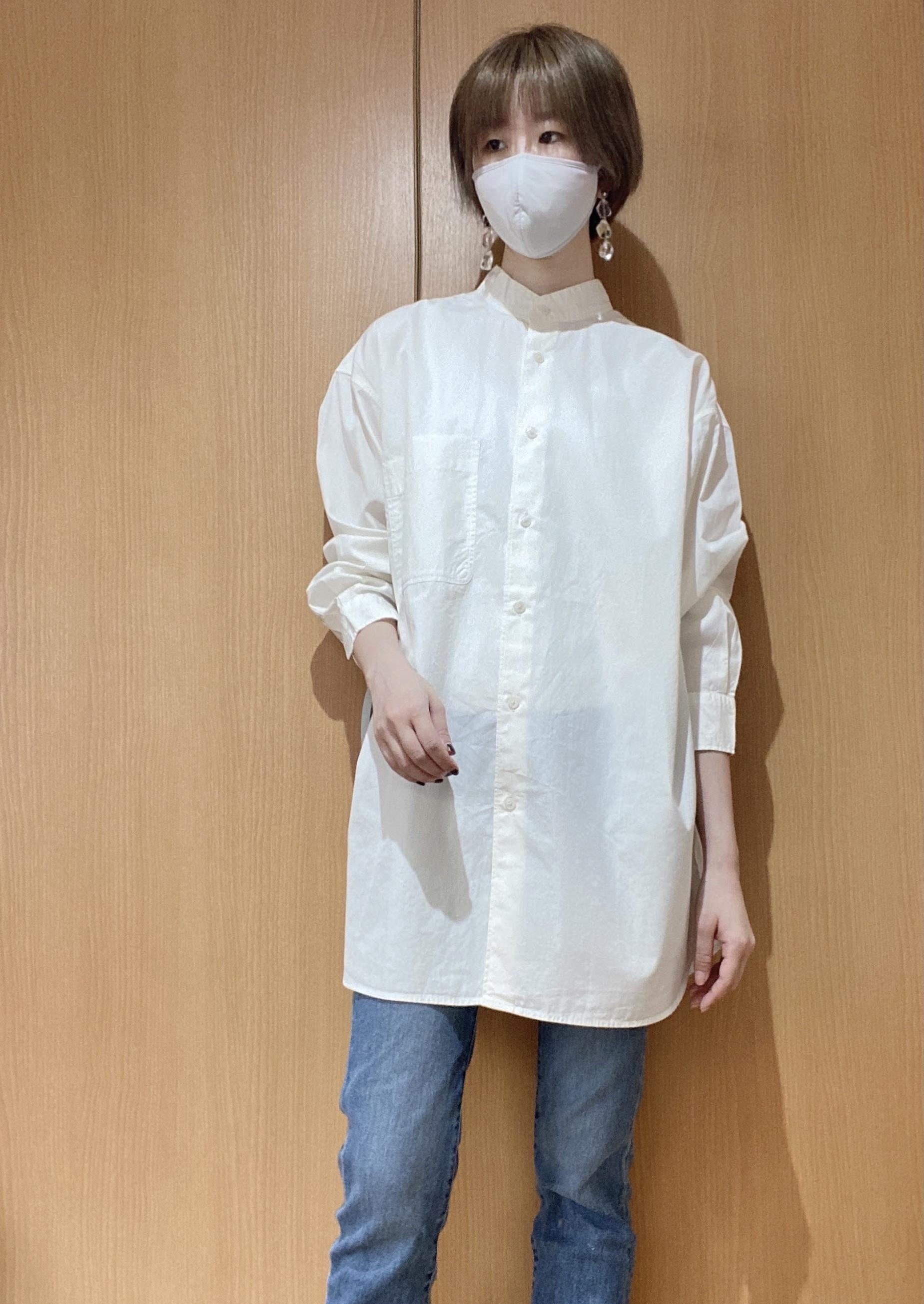 ユニクロユーのオーバーサイズシャツを試着