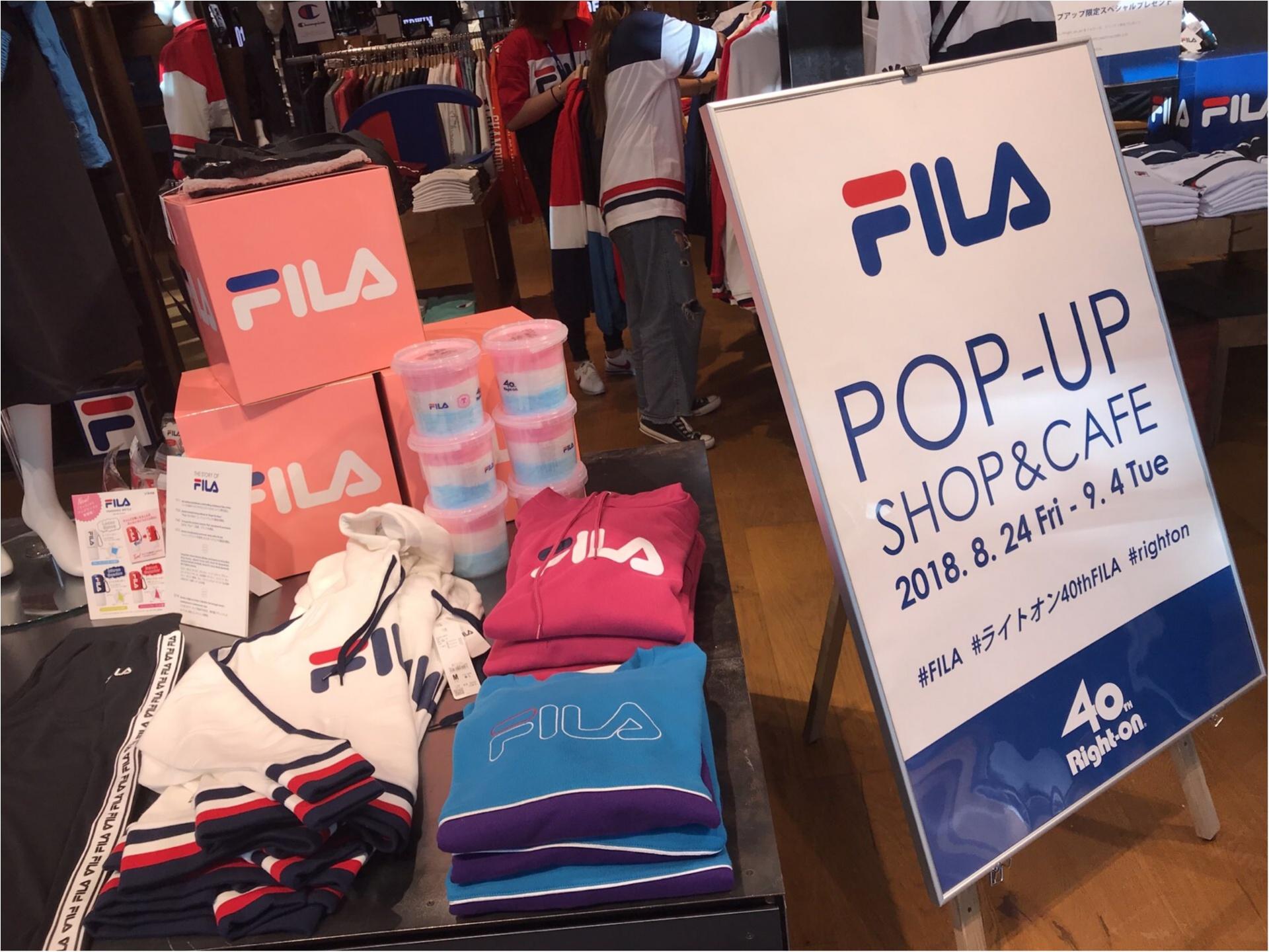 【FILA(フィラ)】がRight-onをジャック!?POP-UPSHOP&CAFEがオープン★_1