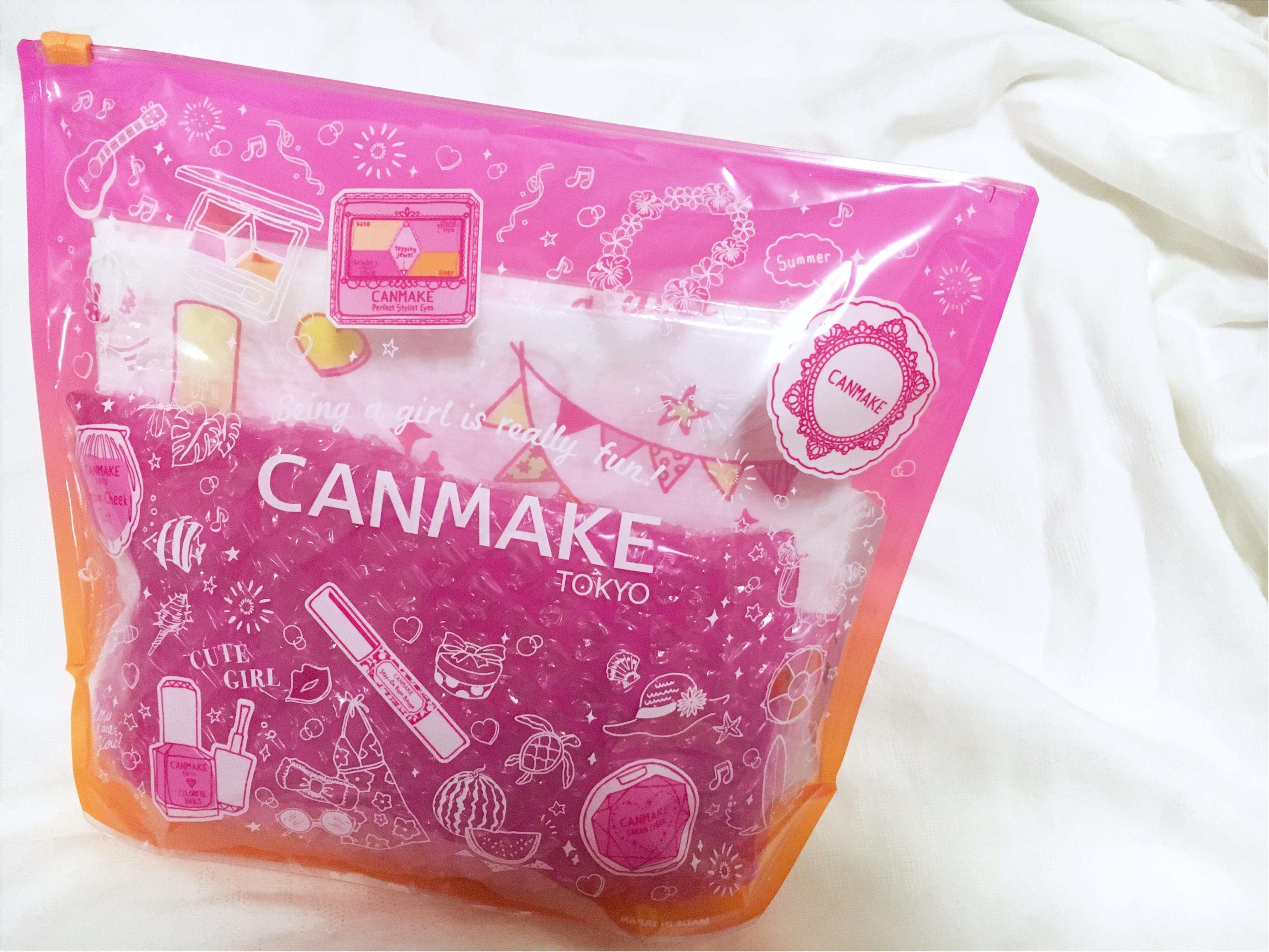 【CANMAKE】夏の新作盛りだくさんな《スペシャルギフト》を頂きました❤️これさえあれば夏メイクは完璧!なアイテムとは?_1