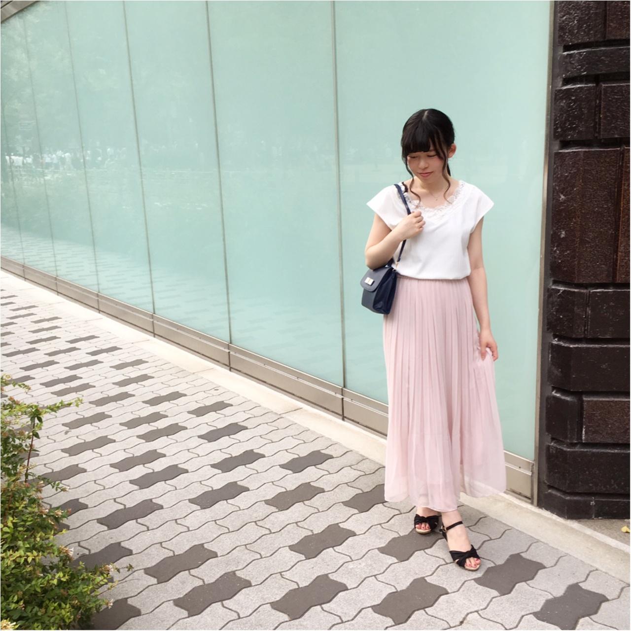 【UNIQLO】セールで買った《ハイウェストシフォンプリーツスカート》が優秀すぎる!_1
