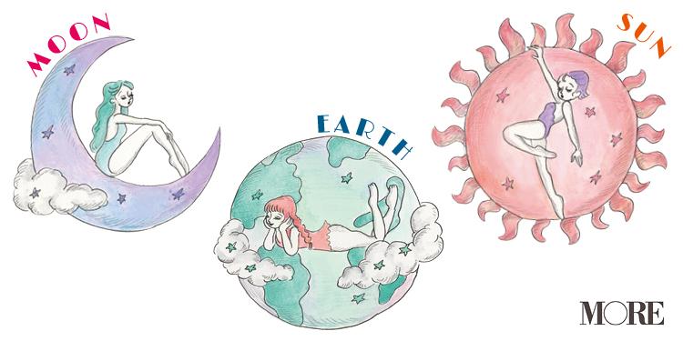 3つの天星をイメージしたイラスト