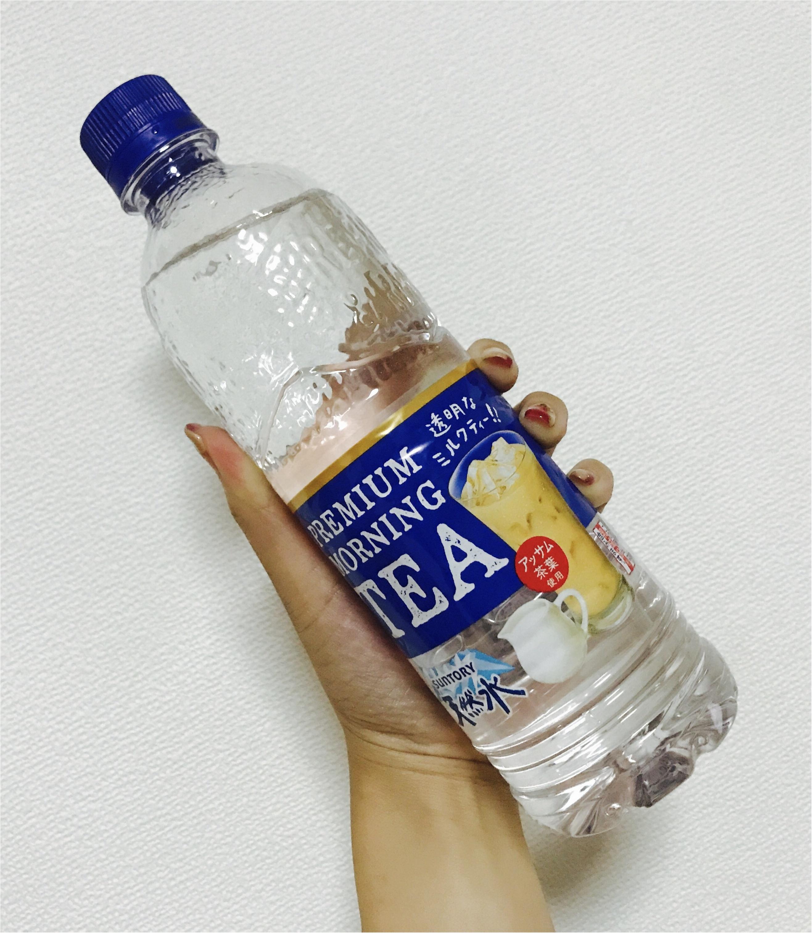 【透明ドリンク】ついにミルクティーまで透明に!!SUNTORYから新発売★_1