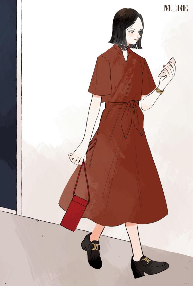 リモートワークでも上がるワンピを着て♡ 同僚3人の恋物語『涼しげ寒色服着回し』5日目_2