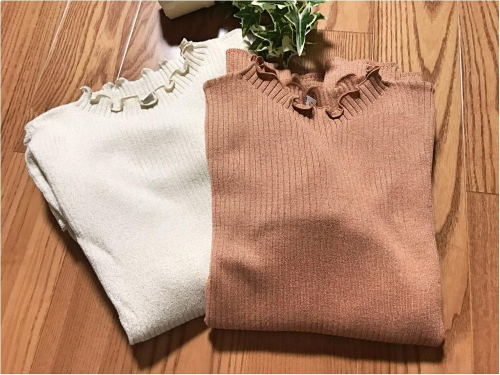 【UNIQLO】春の最新作!《シャイニーリブフリルネックセーター》は今買うべき!今から使えて、春の気分を先取り♡♡_1