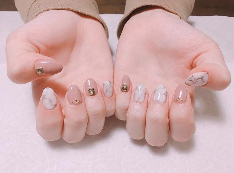 【夏ネイル・マニキュア】おすすめ大理石ネイル♡_2