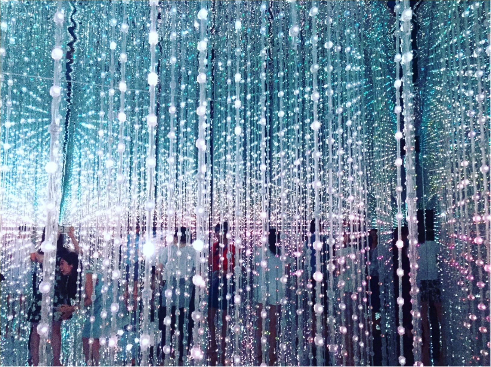 【夏のお出掛けスポット/DMM.プラネッツ Art by teamLab】水に浸かったり仰向けになったりして鑑賞する『デジタルアート』が幻想的✨8/31まで!お台場に急げ♩≪samenyan≫_5