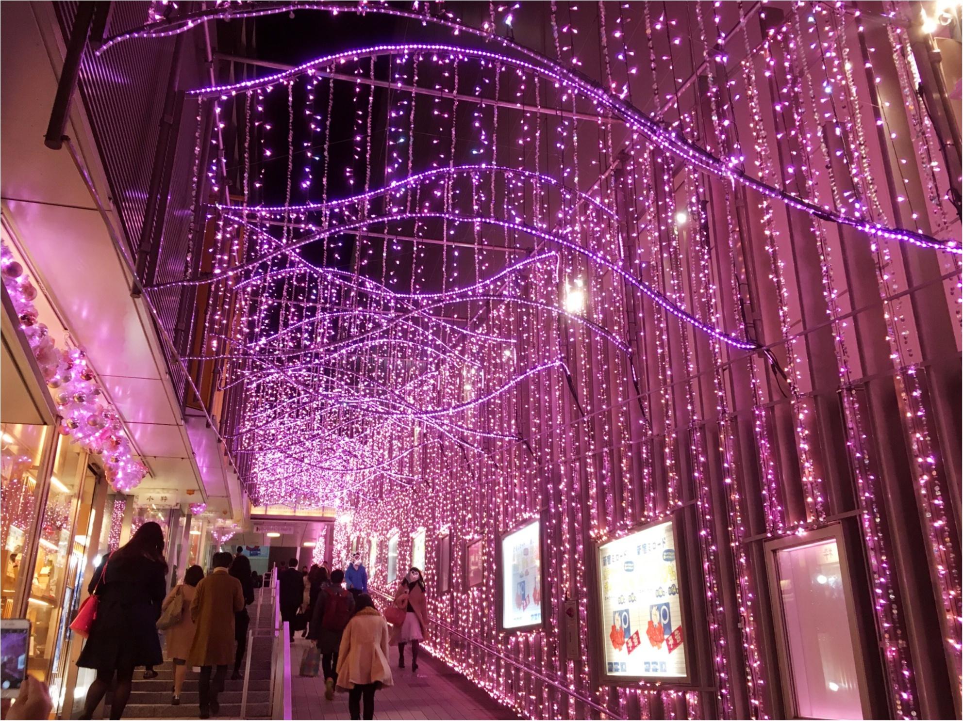 新宿の冬をベビーピンク色に染め上げる♡『新宿テラスシティ』のイルミネーションが女子力高め!体験型の『スマイルタワー』って?♡_5