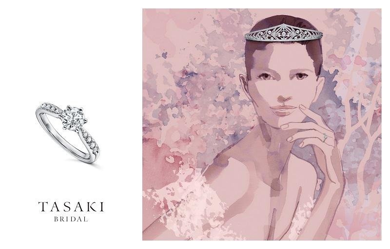 TASAKI(タサキ)ブライダルフェアのイメージ。エンゲージリングとティアラ