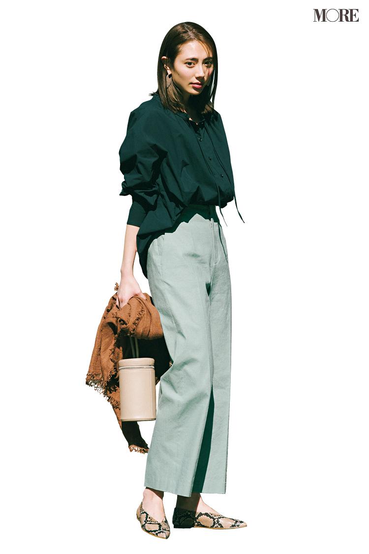【今日のコーデ】<土屋巴瑞季>ふんわりシャツ&きれい色パンツで大人な甘さを堪能して_1