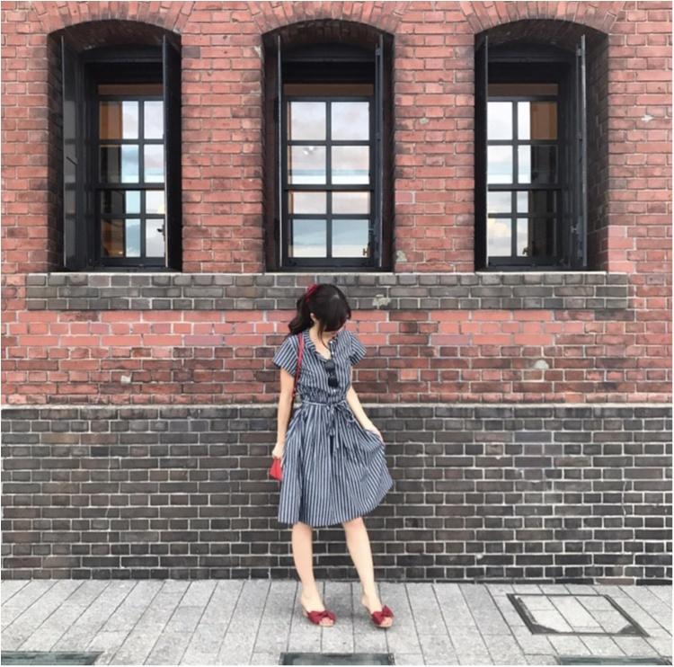 【Fashion】これ1枚でどこへでも♡ストライプシャツワンピコーデ♡_4