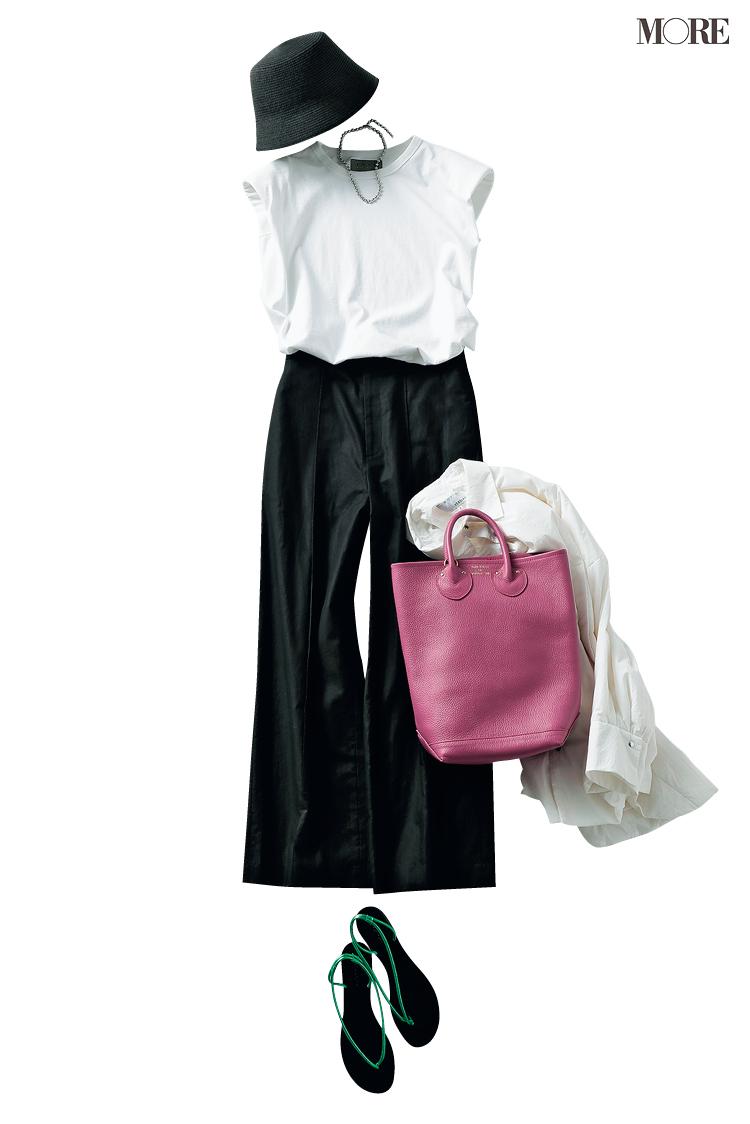 スタイリスト高野麻子さんおすすめのヌーディサンダルを使ったスカートコーデ