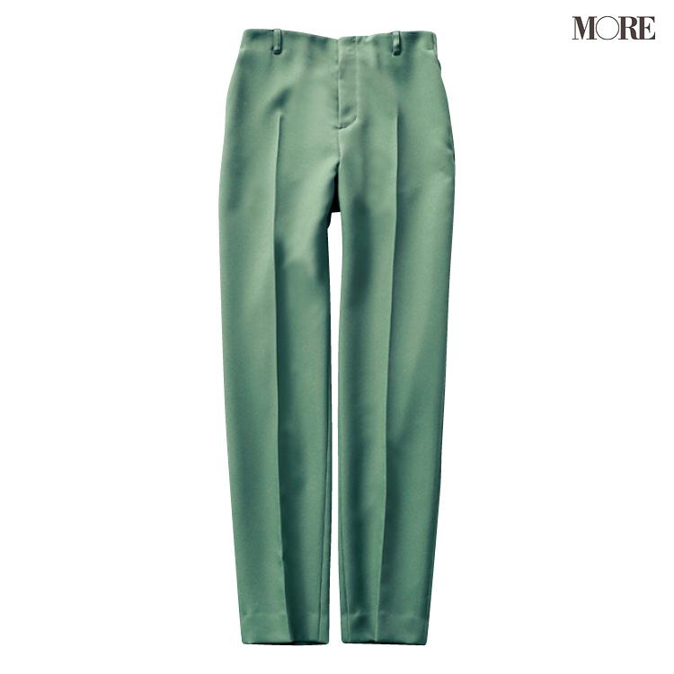 グリーン、ラベンダー、ブルーで美脚♡ 寒色系パンツが愛されシンプルコーデにきく!_1