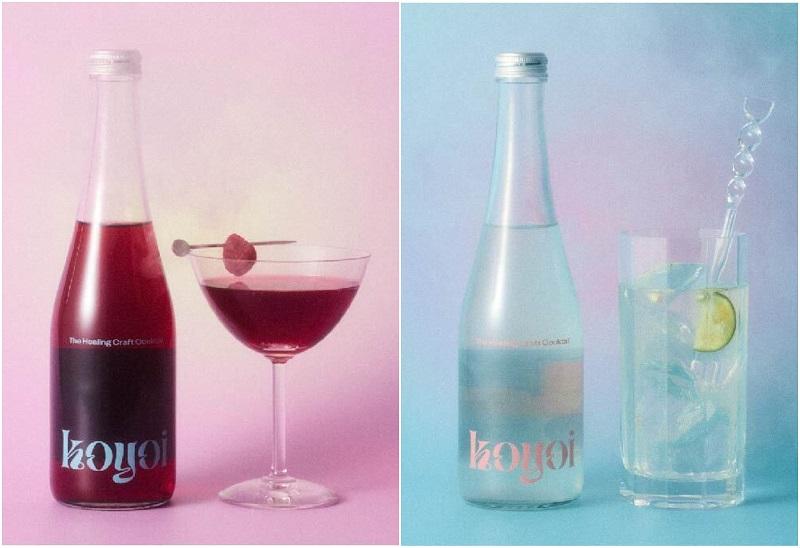 おしゃれすぎる低アルコールクラフトカクテル『koyoi』。「Brilliant berry」と「Fri high highball」のイメージビジュアル