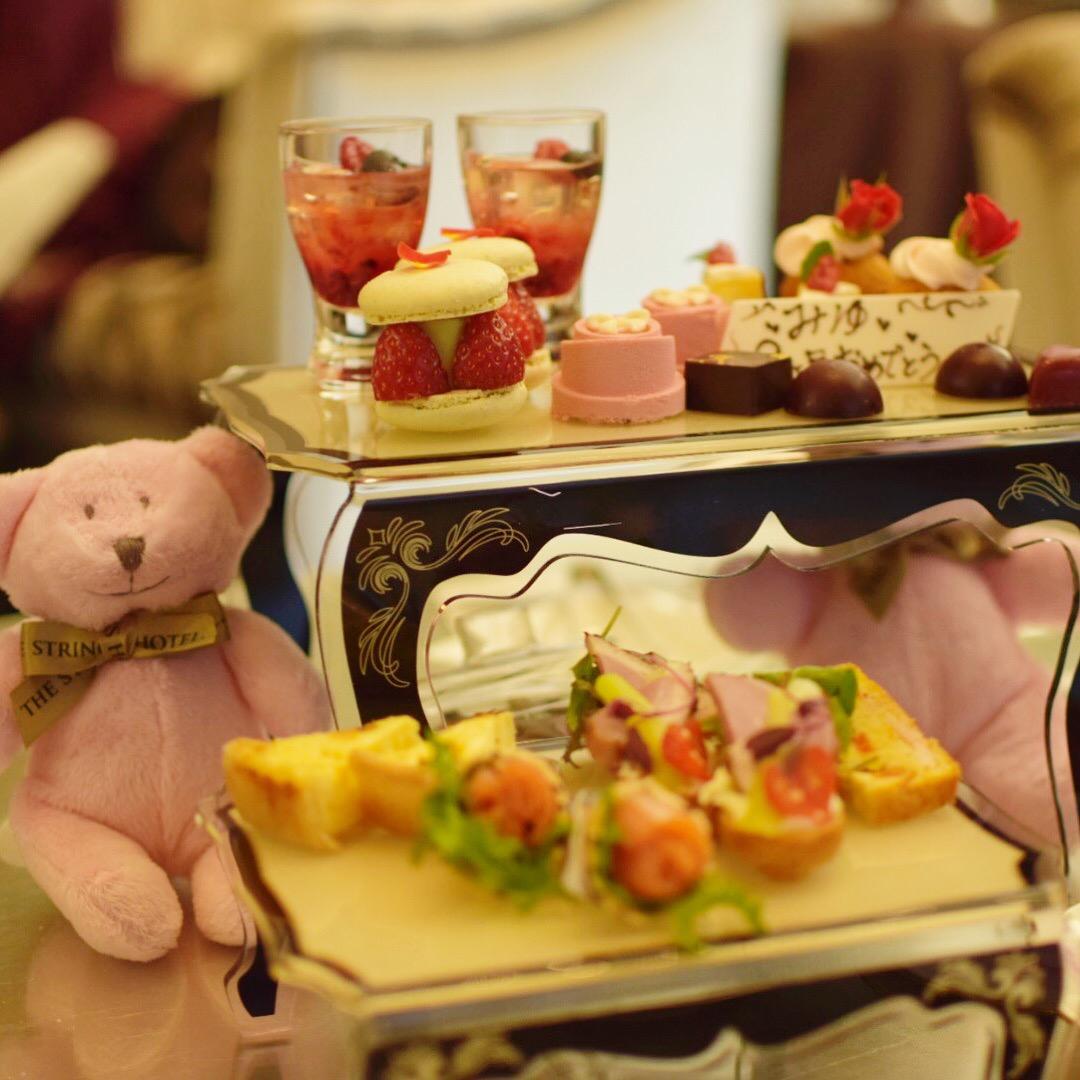 【名古屋】サーウィンストンホテル 幸せのピンクベア付きいちご&ローズアフタヌーンティー_6