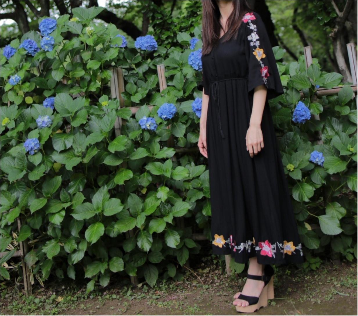 花柄刺繍の存在感が◎1枚で着れちゃう○○のワンピースに一目惚れ☺︎_2