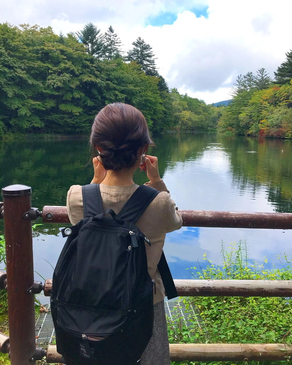 【軽井沢・日帰り紅葉旅におすすめ】リフレクションが美しい「雲場池」★_2