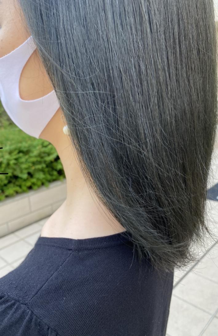 【イメチェン】緑and青を入れたヘアカラーに_5