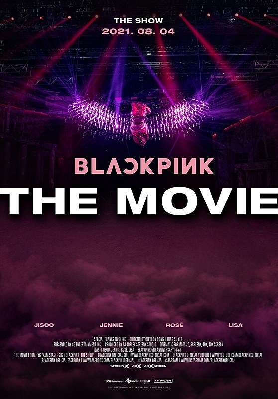 「BLACKPINK THE MOVIE」のメインビジュアル