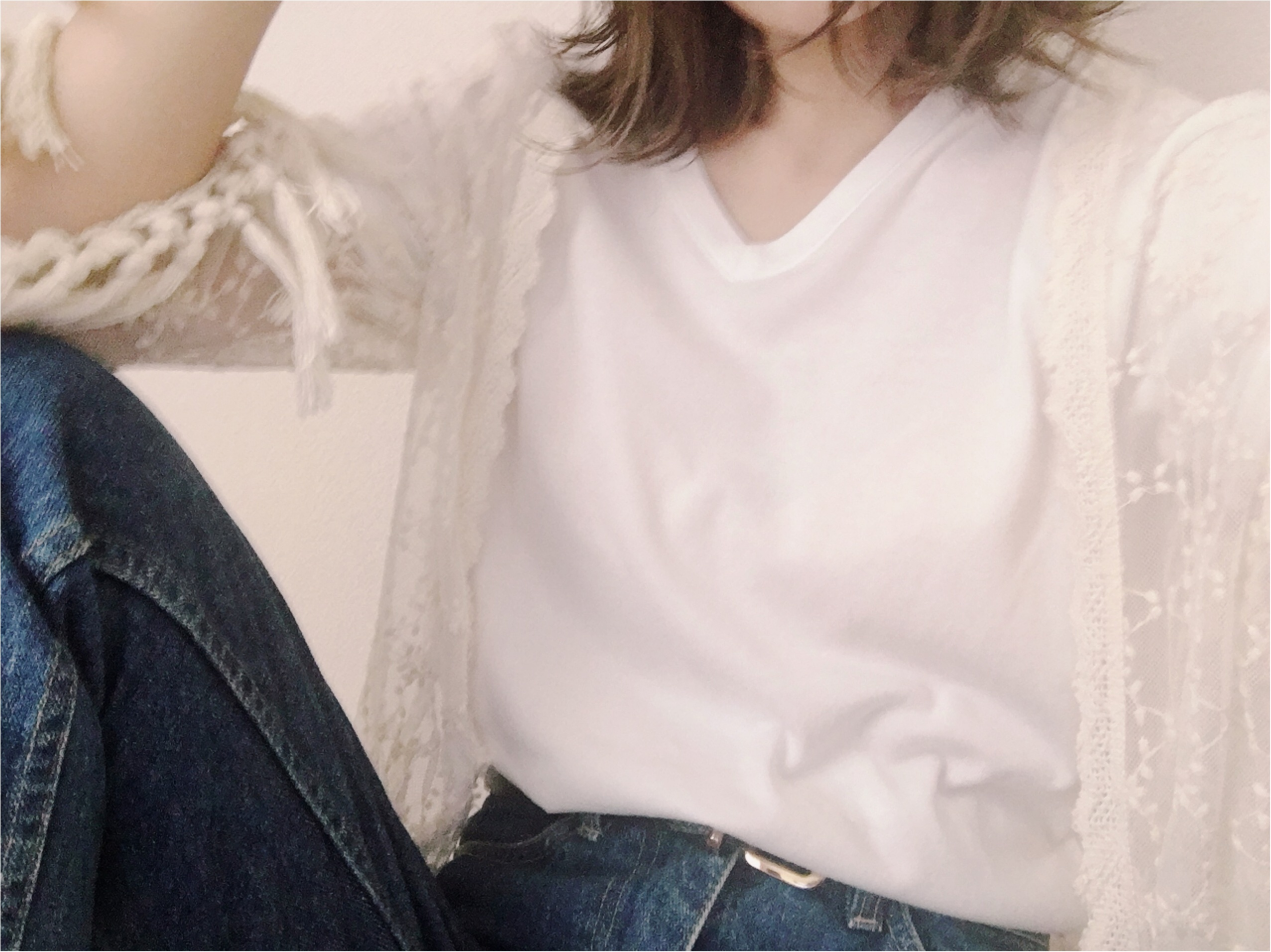 ★《UNIQLO》パックT×レースガウン +αで雰囲気お洒落作っちゃお♡♡_2