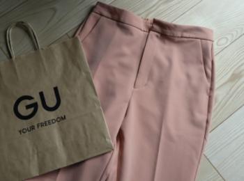 《衝撃価格!¥590へ値下げ❤️》MORE5月号にも掲載【GU】のカラーパンツ‼︎☻
