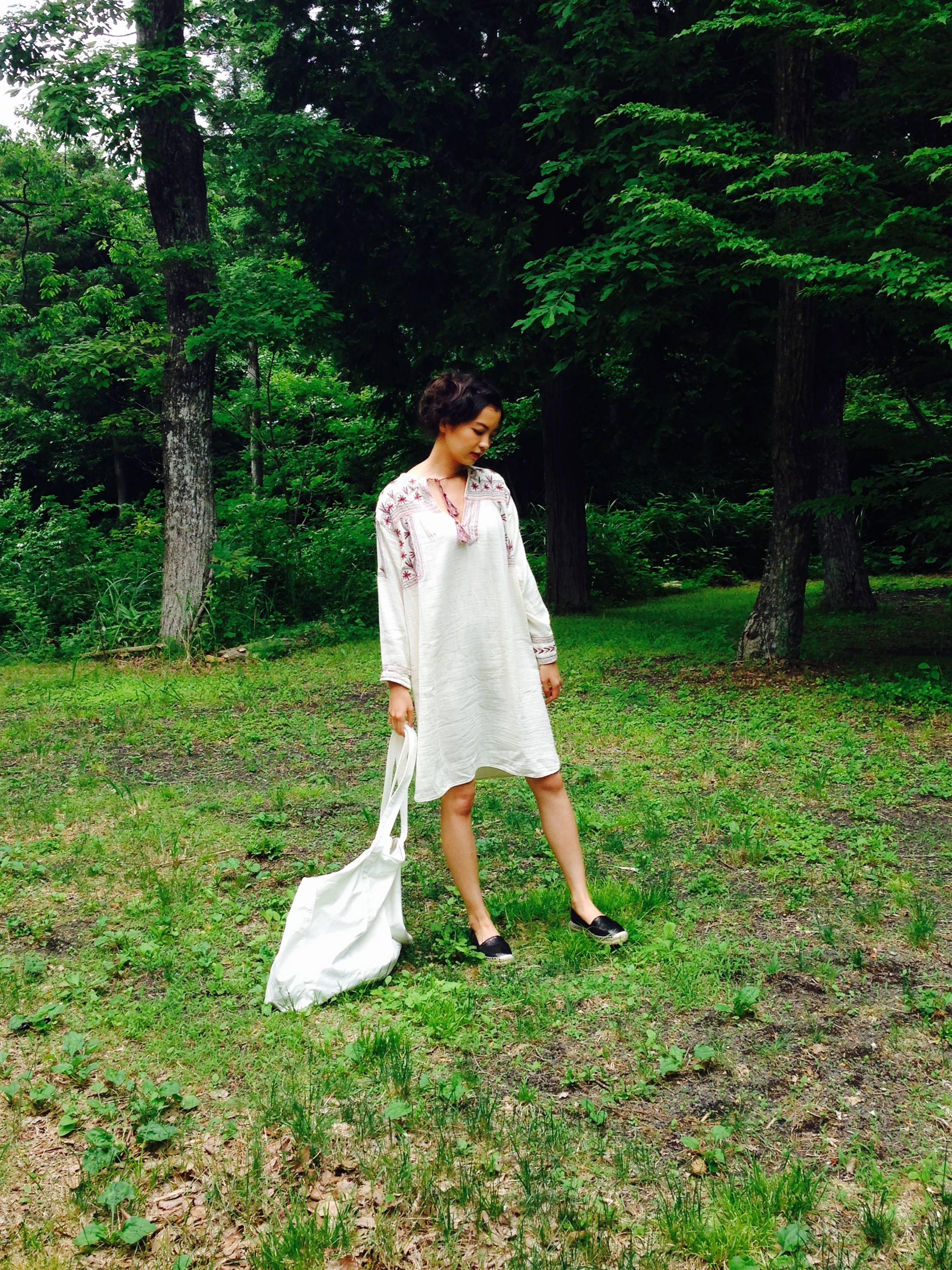 【オフショット】森にぴったり!みっこの私服♡_3