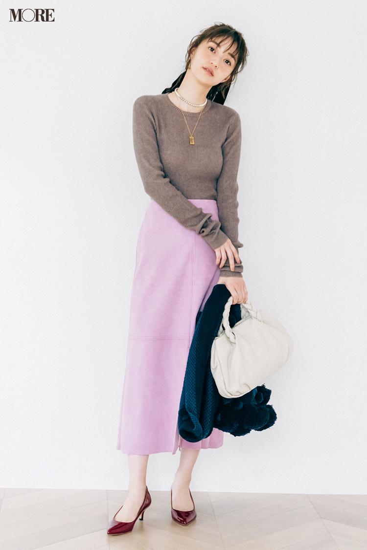 【今日のコーデ】<逢沢りな>きれい色スカートで好感度満点のフェミニンスタイルに_1
