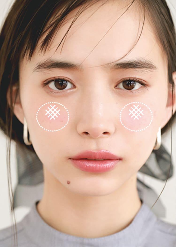 チークの入れ方【2020最新】- 顔型別の塗り方、リップと合わせる春の旬顔メイク方法まとめ_16