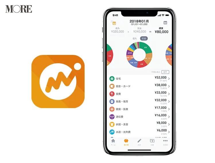 家計簿アプリの「マネーフォワード ME」の画面