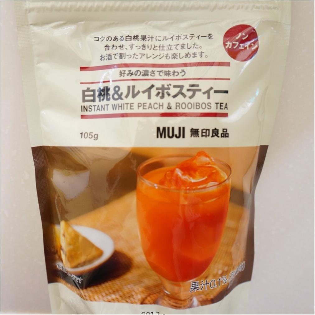 【Q♡cafe】白桃ルイボスティーとALL¥108アイテムのテーブルコーデ_2