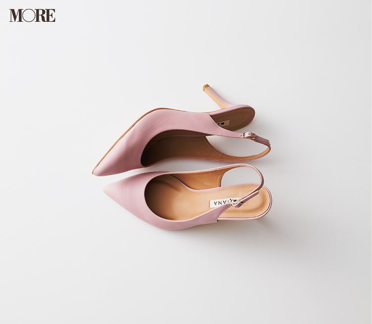 ピンクのヒール靴