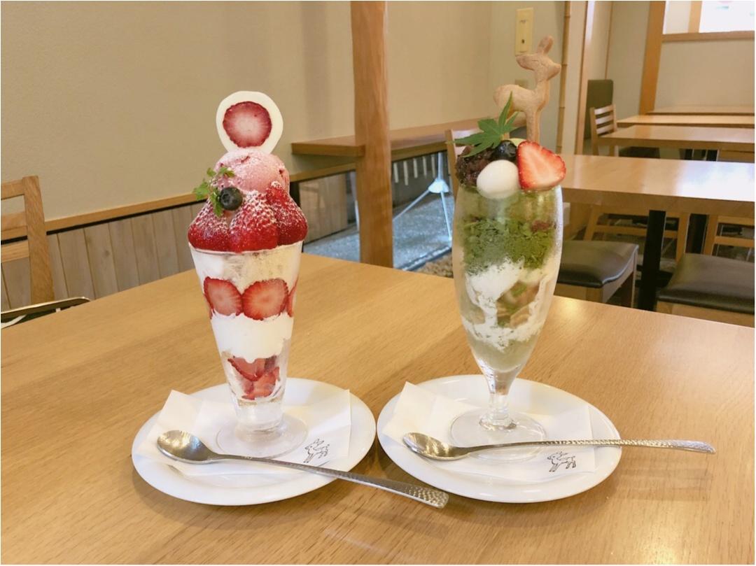 宮島のおすすめスイーツ♡ 濃厚な抹茶と季節のいちごパフェ ♡♡_5