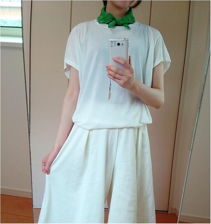 やっぱり白が着たい!!【UNIQLO×GU】でセットアップ風♪ _2