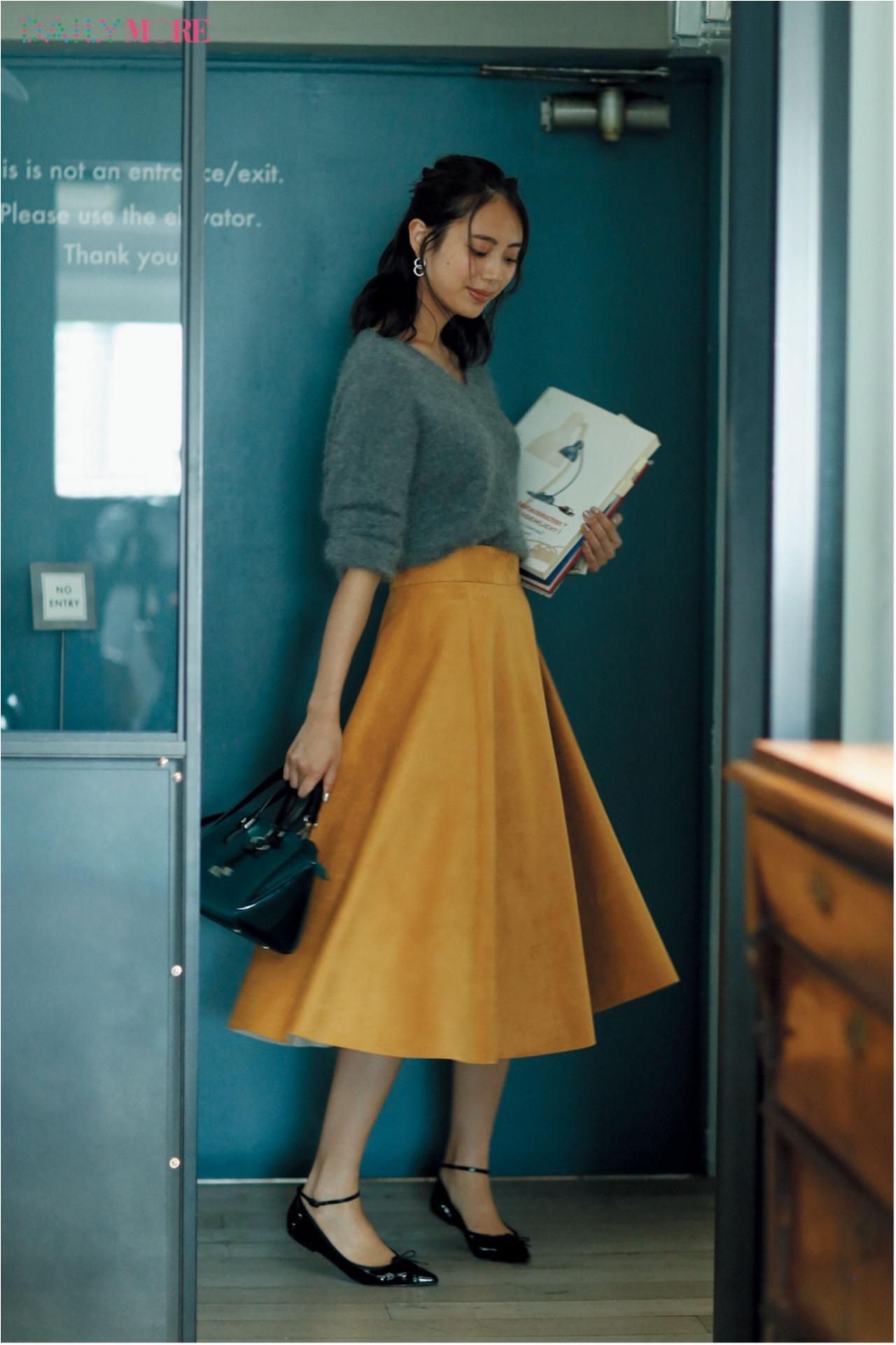 秋コーデを軽やか&華やかに♪ 「フレアスカート」の着こなしまとめ♡_1_10