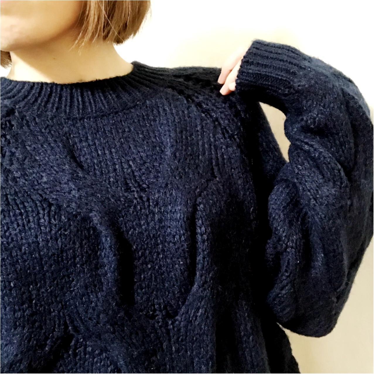 《超大型店限定》ざっくり感がかわいすぎっ♡ GUのケーブルセーター!_4