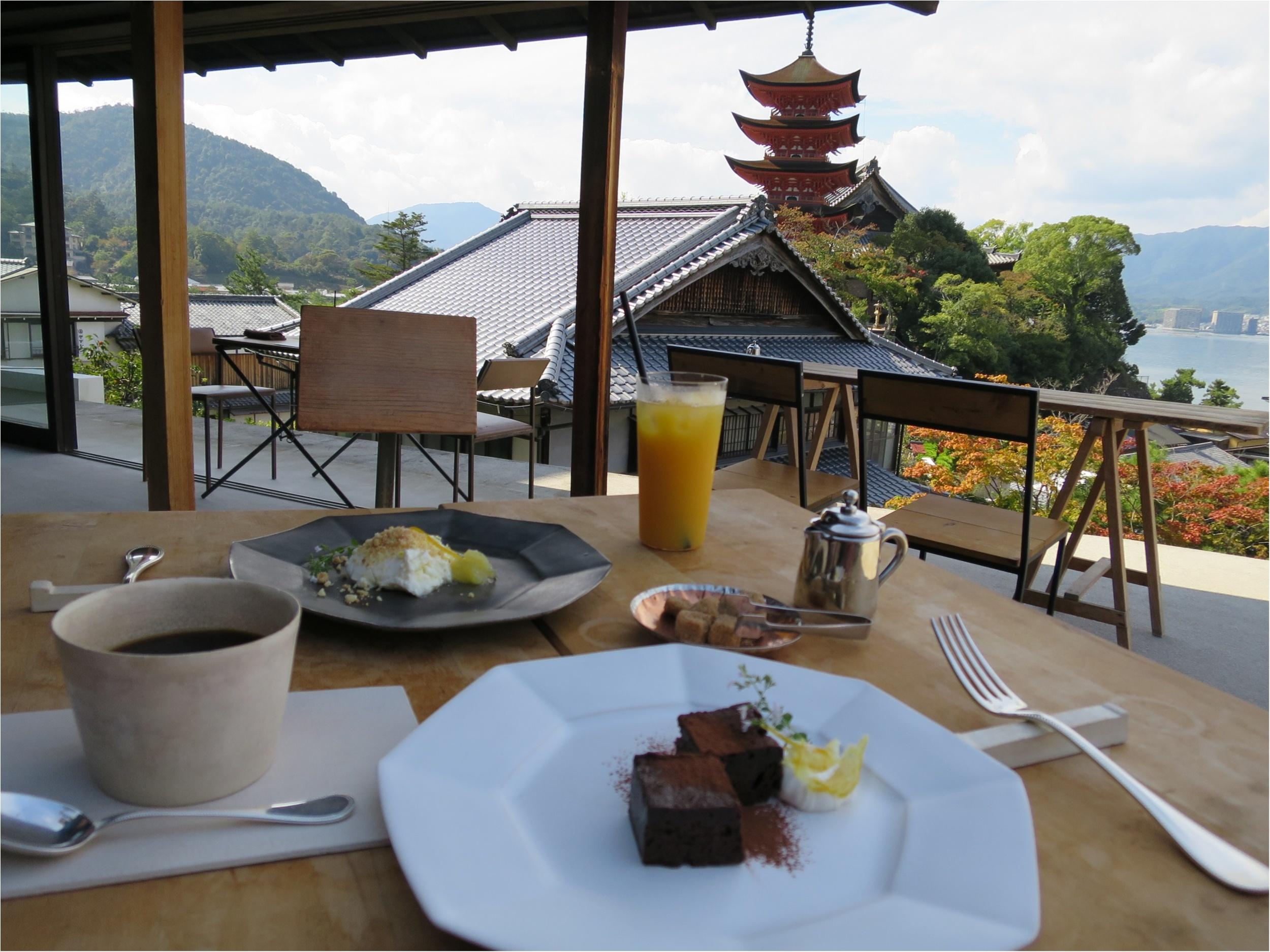 《 宮島 》丘の上にある絶景カフェでまったり♡_8