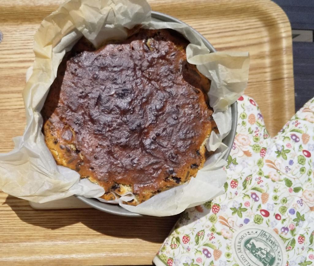 【簡単美味しい】クッキークリームverのバスクチーズケーキを作ってみました!_6