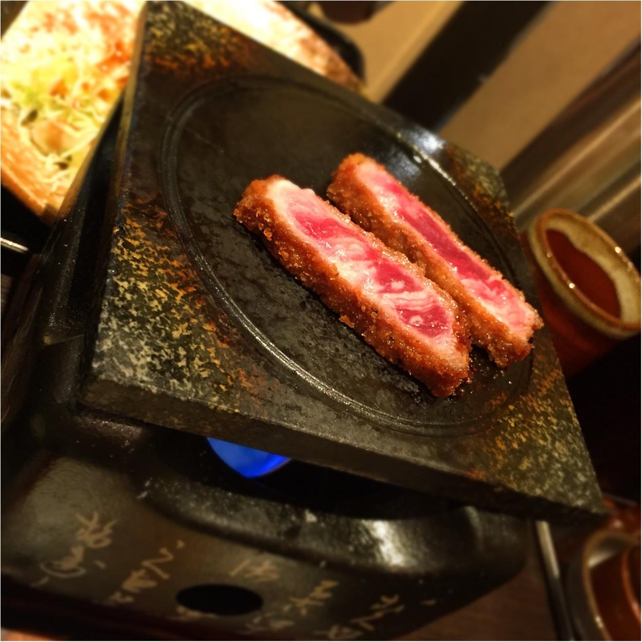 ミディアムレアのお肉を○○で○○!?牛かつ【もと村】の超人気定食が美味しすぎる♡_6
