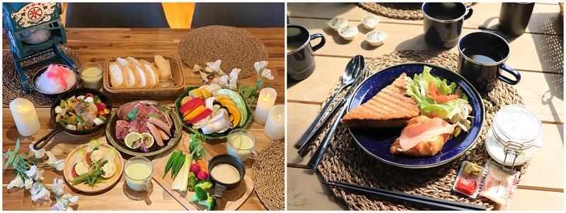 ETOWA KASAMAの朝食と夕食イメージ