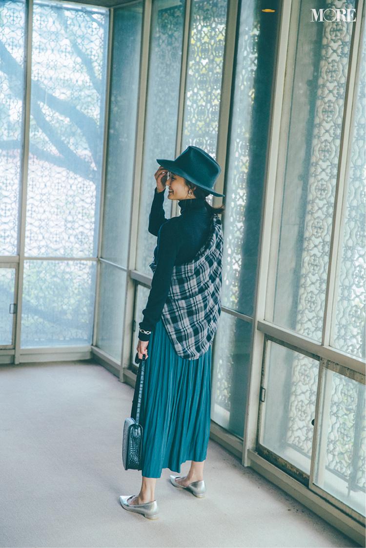 ロングスカートコーデ特集《2019秋》- プリーツスカートやチェック柄スカートなど、旬のスカートコーデまとめ_19