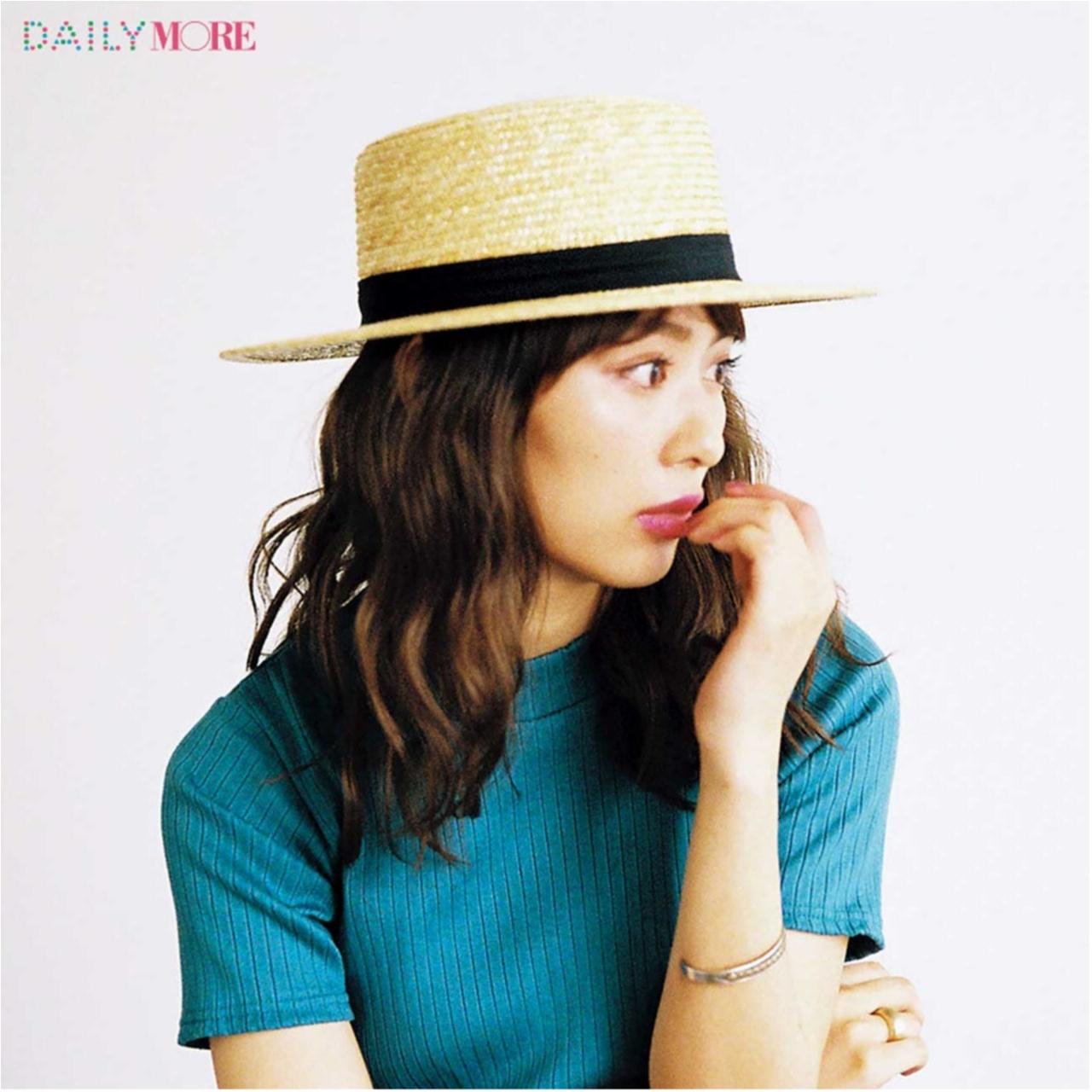 いつもの服が一気にフレンチムードに♪ お茶目な「カンカン帽」コーデまとめ♡_1_20