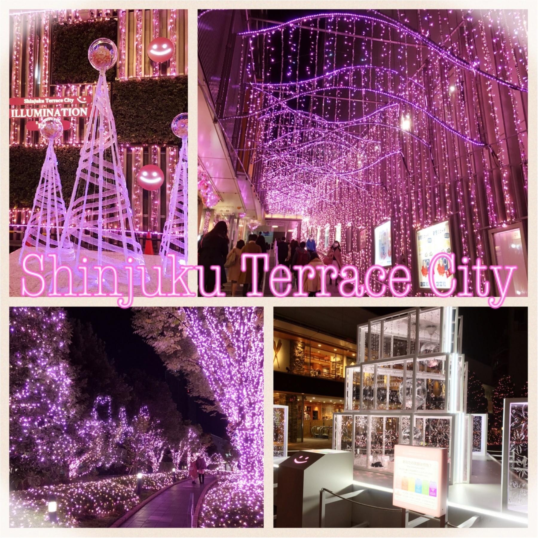 新宿の冬をベビーピンク色に染め上げる♡『新宿テラスシティ』のイルミネーションが女子力高め!体験型の『スマイルタワー』って?♡_1