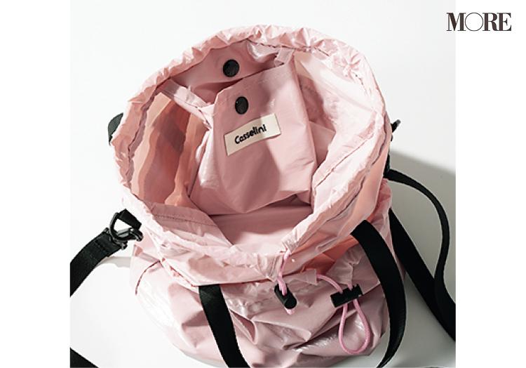 ピンクの巾着バッグの中身