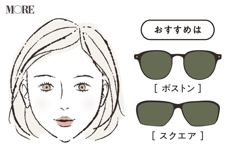そろそろ夏の日差しを考えて【顔型×サングラス】お見立て帳♡ あなたに似合うサングラスはこれです! photoGallery_1_4